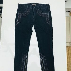 Mother Black Embroidered Jeans - 29